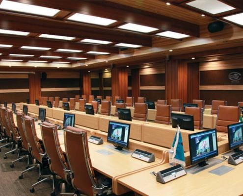 تجهیز سالن کنفرانس پالایشگاه شهید تندگویان