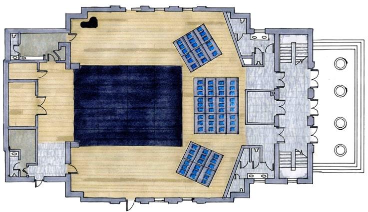 بخش های مختلف فضا در طراحی سالن همایش و طراحی سالن کنفرانس