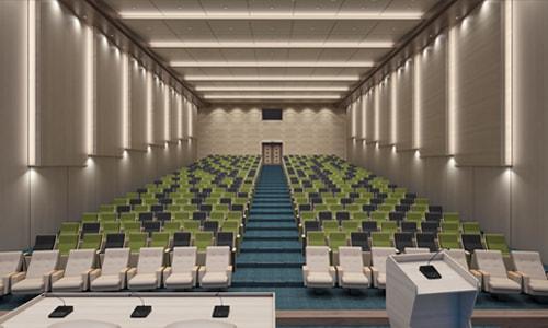 آلترنانتیوی با رنگ صندلی متفاوت برای سالن آمفی تئاتر