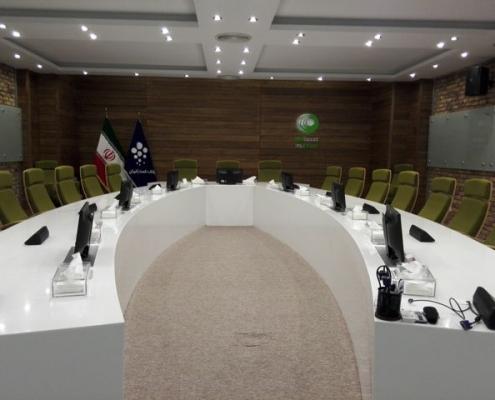 تجهیز و طراحی سالن کنفرانس مجتمع تجاری دیدی بود
