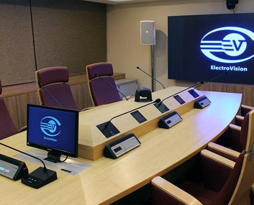تجهیز سالن کنفرانس شرکت الکتروویژن