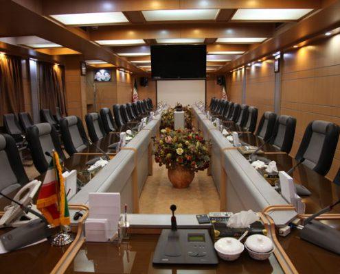 تجهیز سالن کنفرانس مرکز تحقیقات فناوری ریاست جمهوری